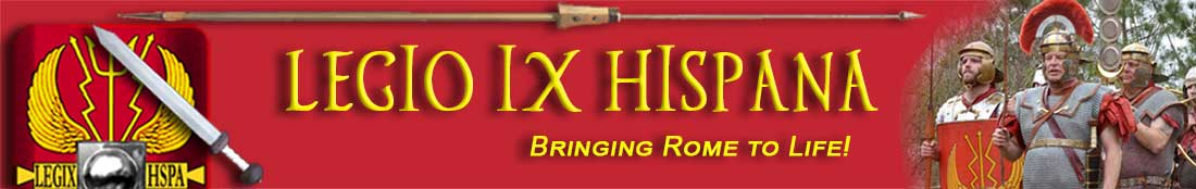 The Legio IX Hispana site main banner